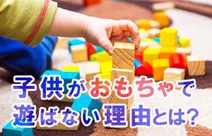 【遊びには相手が必要】おもちゃで遊ぶよりも誰かと一緒のほうが子供も楽しい?